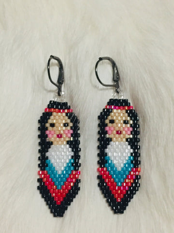 Colorful Native Beaded Ladies