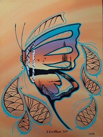 Butterfly, Indigenous Painting, Acrylic on Canvas