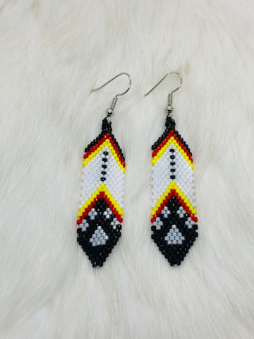 Feather Paw Earrings