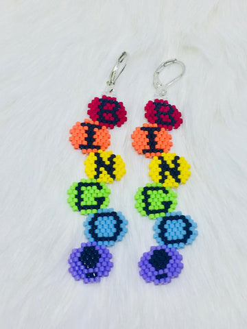 Bingo Beaded Earrings