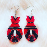 Fringed Red Dress Earrings