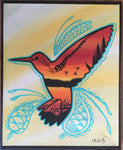 Freedom, The Hummingbird, Indigenous Painting, Canvas