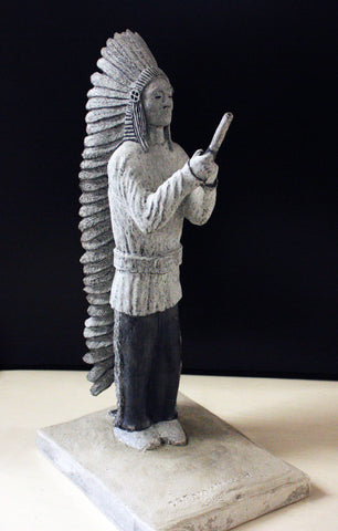 """Chief in The Urban Jungle"" Stone Carving"