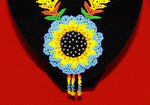 Embera Beaded  Sunflower Indigenous Necklace