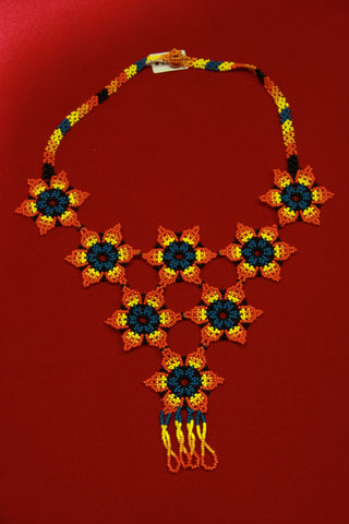 Embera Beaded Floral Indigenous Necklace