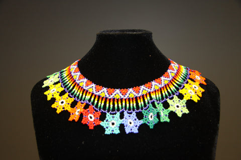 Embera Style Floral Beaded Indigenous Choker