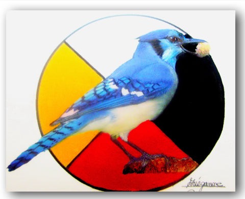 """BLUEJAY"", Original Native Canadian Painting"