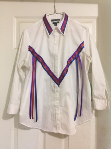 Lady's Ribbon Blouse/Regalia, Custom-made, Native Canadian