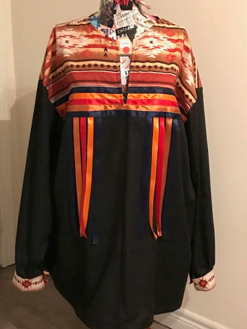 Ribbon Shirt/Regalia, Custom-made, Native Canadian
