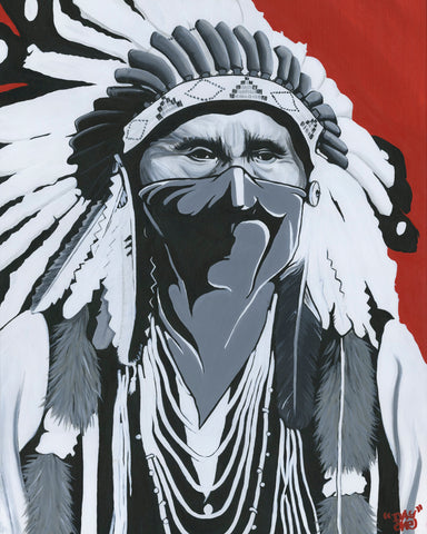 """I Resist"" Native Canadian Paper Print"