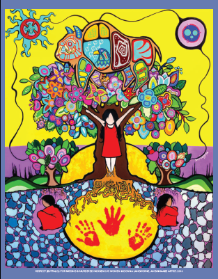 """Respect (Buffalo) For Missing & Murdered Indigenous Women"" notebook - 120 pages (4912553197701)"