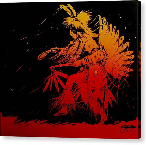 Ancestral Tradition, Native Art - Canvas Print
