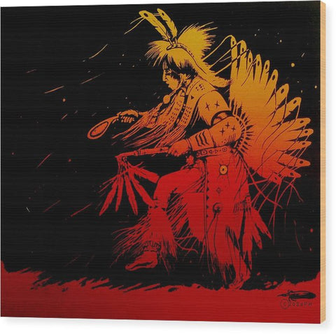 Ancestral Tradition, Native Art - Wood Print