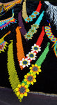 Bright Colors & Flowers Beaded Chocker, Mayan Style Indigenous Jewelry
