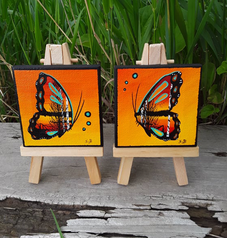 """The Change is Coming"", Tiny Butterflies, Indigenous Paintings"