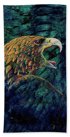 Eagle, Native Art - Beach Towel