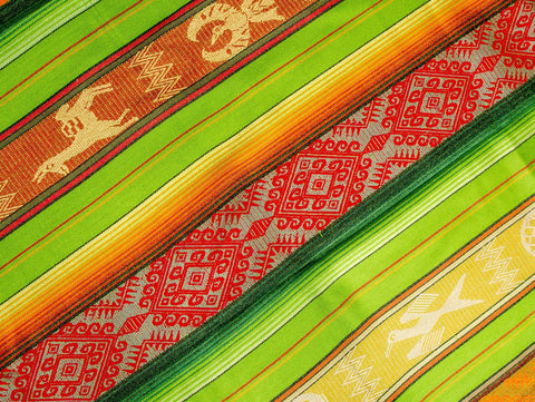 Colorful Picnic Blanket / Woven Tablecloth (Andean Ethnic Print)