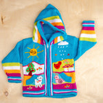 Kids Handknitted Embroidered Wool Sweater / Toddler Hoodie
