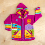 Children's Knitted Wool Sweater / Toddler Hoodie