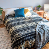 Alpaca Wool Tribal Boho Blanket (Queen)