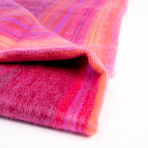 Cozy Alpaca Wool Baby Blanket, Traditionally Woven, in Pink Tones