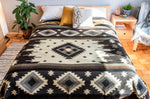 Reversible Alpaca Wool Woven Native Inca Tribal Blanket (Queen)