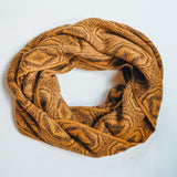 Alpaca Wool Soft Knitted Infinity Scarf, Mustard Yellow