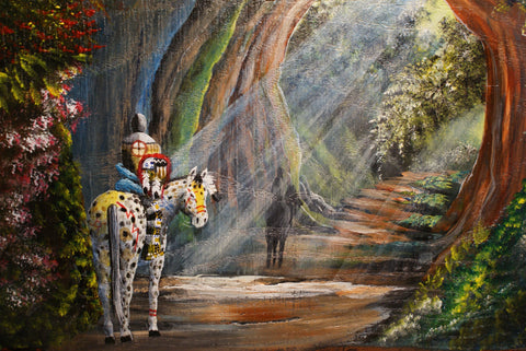 """Sacred Cavern"" Original Wood Painting"