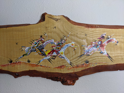 """Wind Riders"" Hand-Painted on Wood"