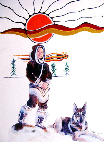 """Nation Builder"", Original Native Canadian Painting"