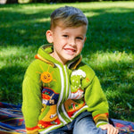 Kids Handknited Embroidered Wool Hoodie