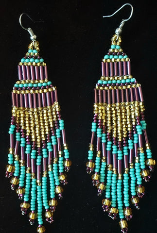 Mayan Indigenous Beaded Earrings