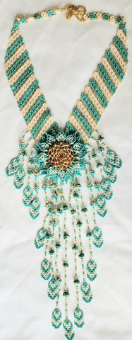 Mayan Indigenous Beaded Multicolour V-Shaped Necklace