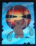 Medicine Bear, Native Canadian Painting