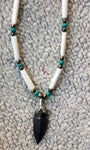 Stone Arrow Head Single Strand Necklace