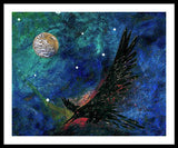 Raven Moon - Framed Print