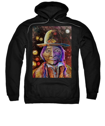 Sitting Bull Spirit Orbs, Native Artwork - Sweatshirt