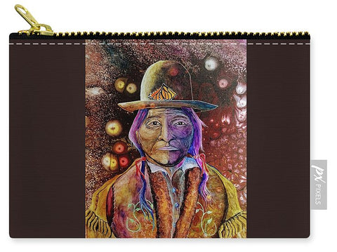 Sitting Bull Spirit Orbs, Native Artwork - Carry-All Pouch