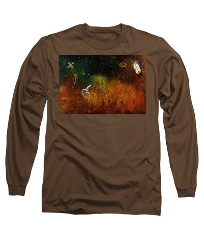 Sweatlodge, Native Canadian Artwork - Long Sleeve T-Shirt