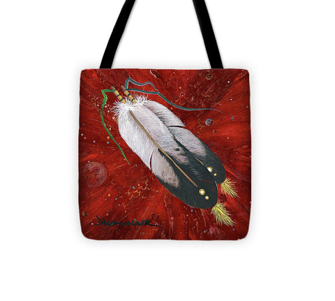 Two Feathers - Tote Bag