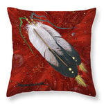 Two Feathers - Throw Pillow
