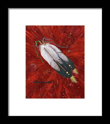 Two Feathers - Framed Print