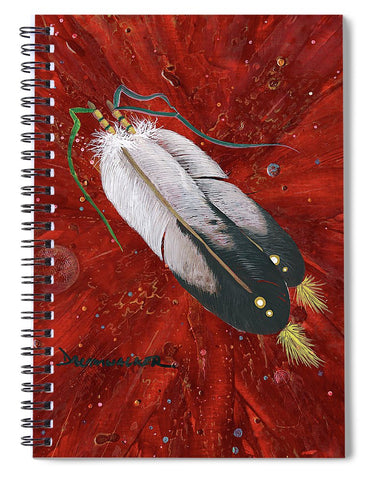 Two Feathers - Spiral Notebook