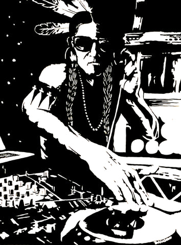 """Warrior DJ"", Print on Gloss Paper"