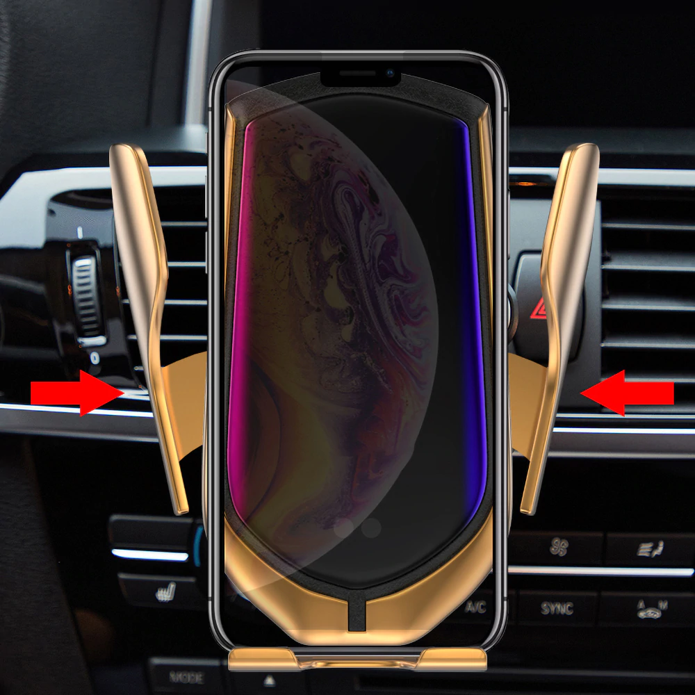 Automatic Car Phone Holder With Wireless Charging