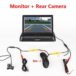 Foldable Car Monitor For Parking with LCD Display