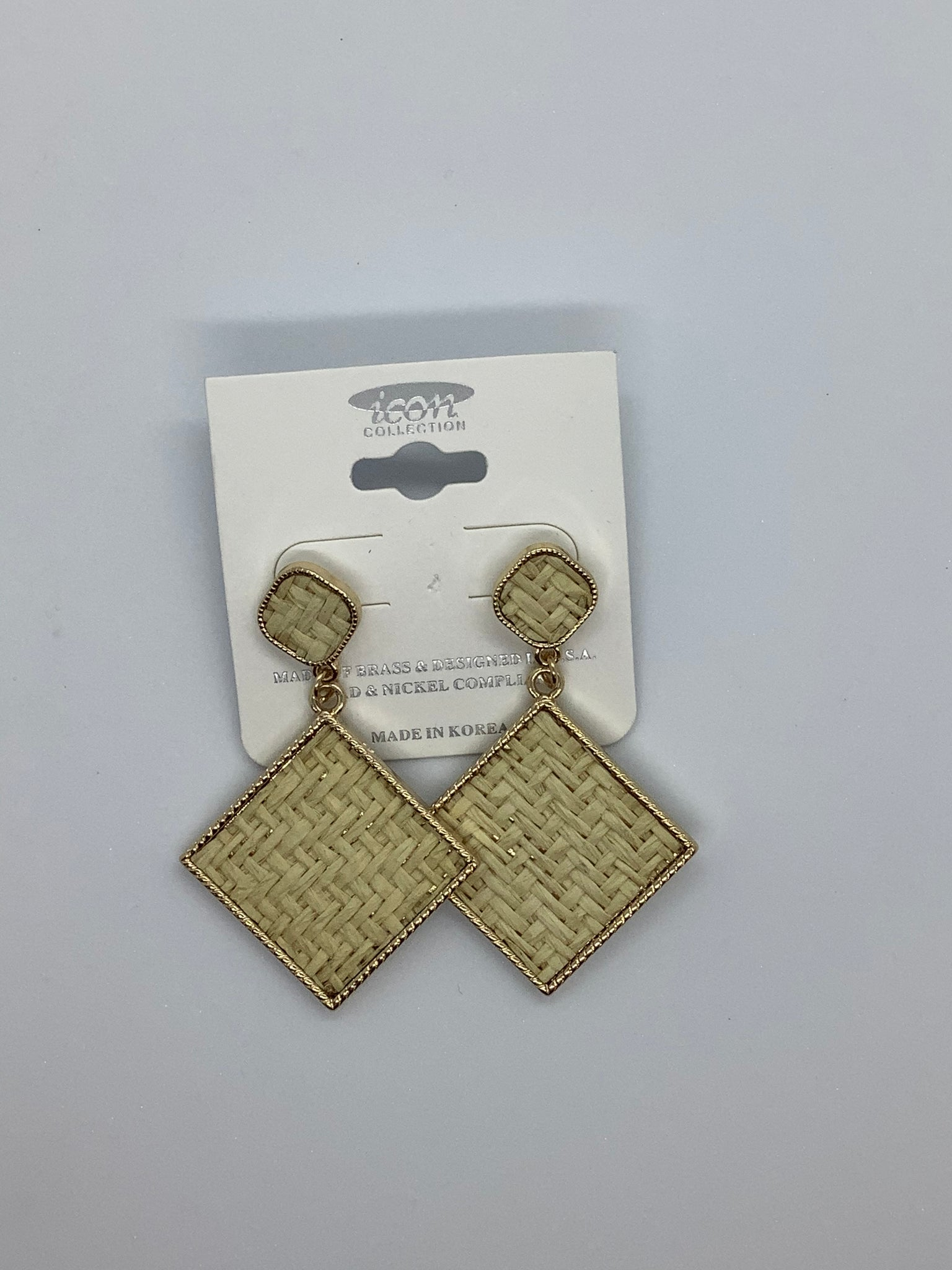 Icon Gold Rattan Earrings