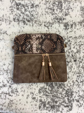 Load image into Gallery viewer, Snakeskin Fashion Handbag with Tassels