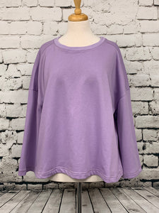 Loveriche  plus size wide sleeve lavender sweatshirt