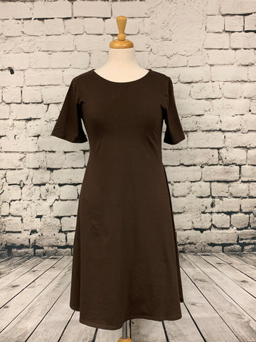 Zenana short sleeve dress with pockets